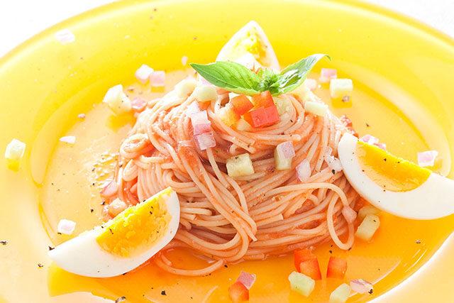 野菜ソースの冷製カッペリーニ