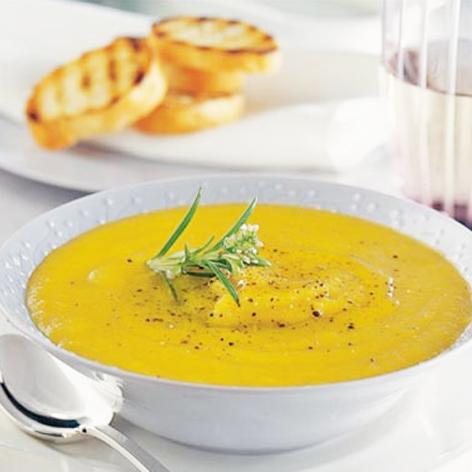 かぼちゃと玉ねぎのスープ ローズマリー風味