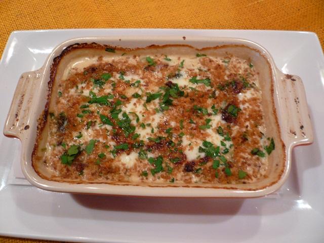 ひよこ豆とほうれん草のクリームグラタン