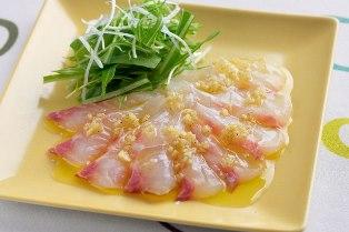 白身魚のカルパッチョ しょうが風味