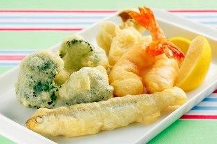 シーフードと野菜のフリッター