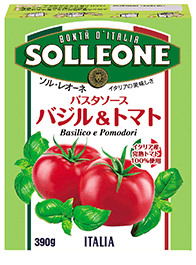 ソル・レオーネ パスタソース バジル&トマト テトラ