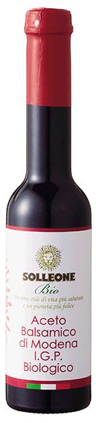SOLLEONE Bio Premium Aceto Balsamico di Modena I.G.P.Biologico Rosso 250ml ソル・レオーネビオ プレミアム オーガニック・バルサミコ酢 レッドラベル 250ml