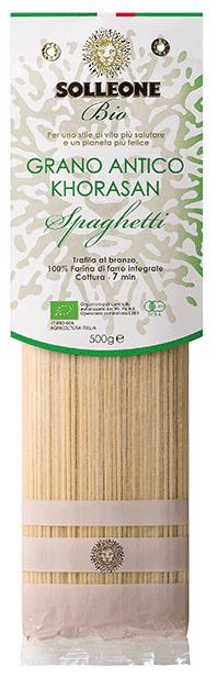 ソル・レオーネビオ プレミアム<br>オーガニック・ブロンズダイス・スパゲッティ ホラーサーン小麦 1.9mm 500g