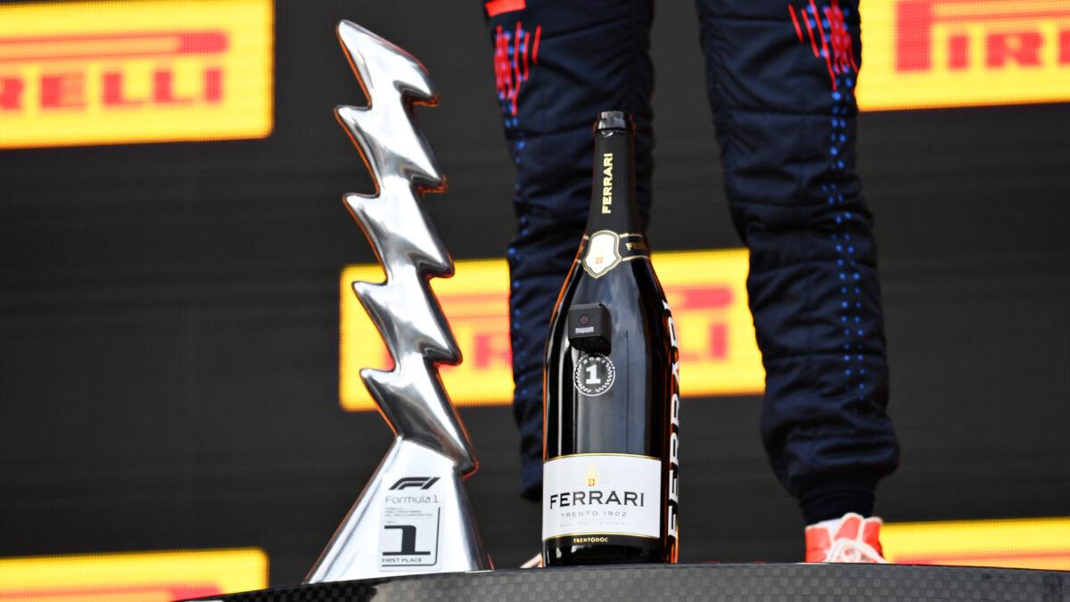 フェッラーリがF1の表彰台に登場しました!