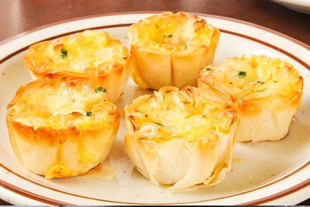 ズッキーニとリコッタチーズのミニパイ