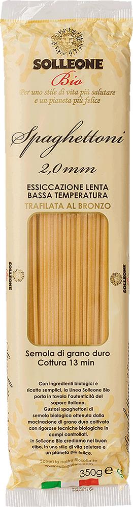 ソル・レオーネビオ レッドラベル<br>オーガニック・ブロンズダイス・スパゲットーニ 350g